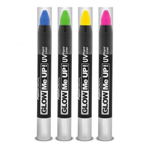 PaintGlow - Lot de 4 stick make-up néon