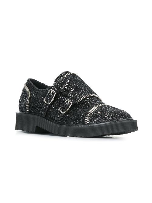 Chaussures à boucles à paillettes