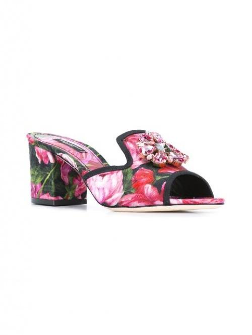 Dolce & Gabbana - Mules fleuries