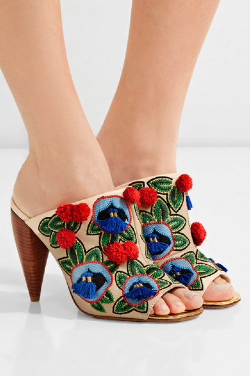 Tory Burch - Mules pompons
