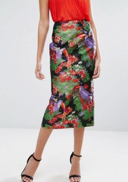 Asos - Jupe motifs tropicaux