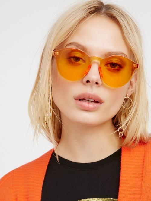 Free People - Lunettes de soleil oranges