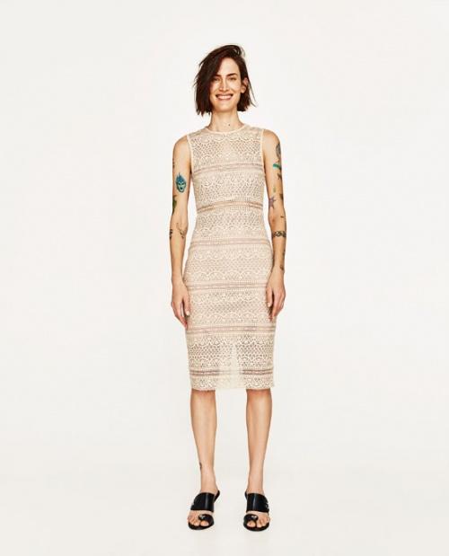 Zara - Robe en dentelle