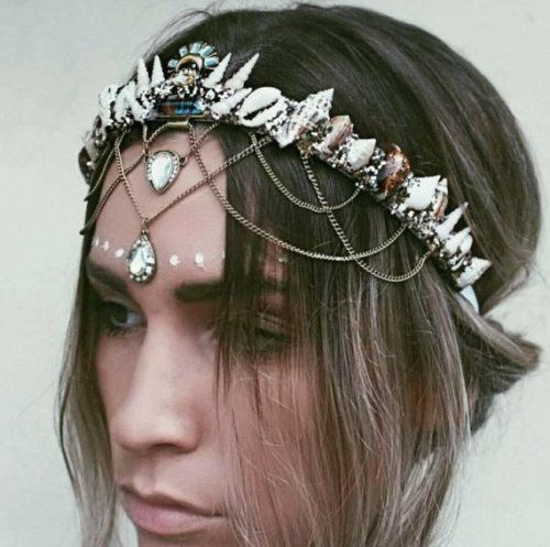 Chelsea's Flowers Crowns - Couronne coquillages
