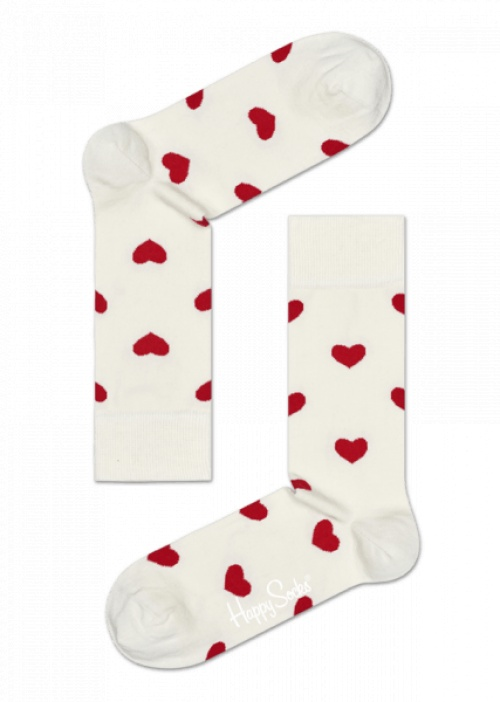 Happy Socks - Chaussettes coeurs
