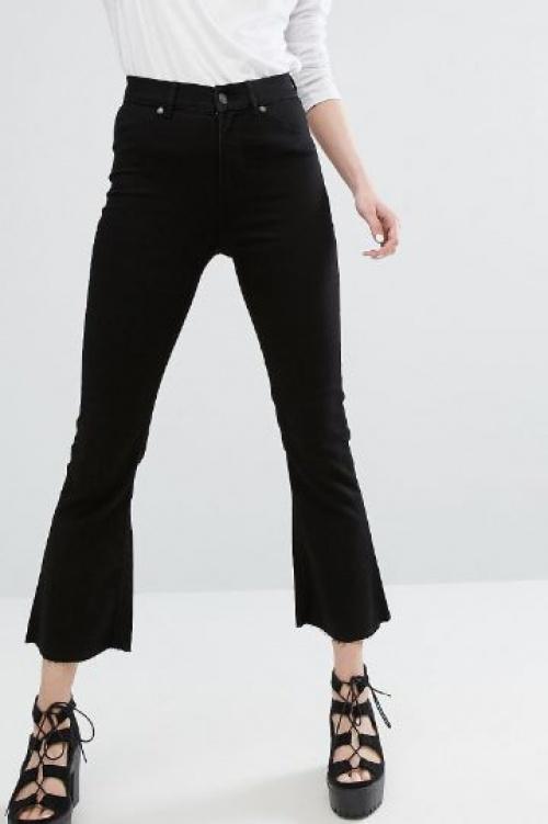Cheap Monday - Jean taille haute évasé à ourlet brut