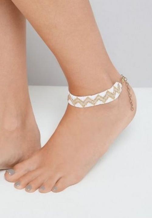 New Look - Bijou de cheville perles