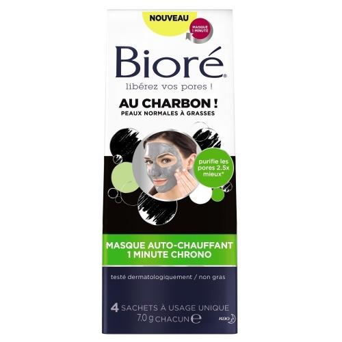Masque auto-chauffant au charbon - Bioré