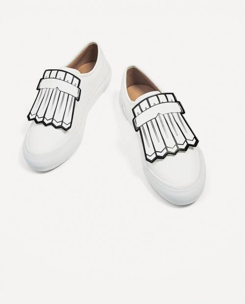 Zara - Baskets à franges détachables