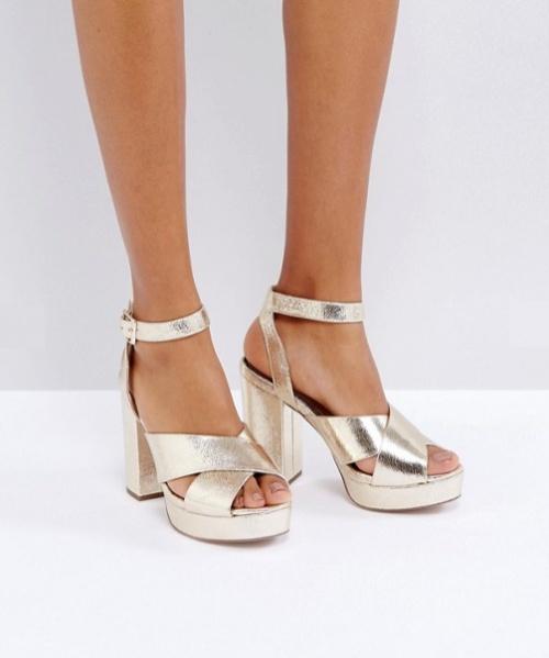 Miss Selfridge - Sandales métallisées