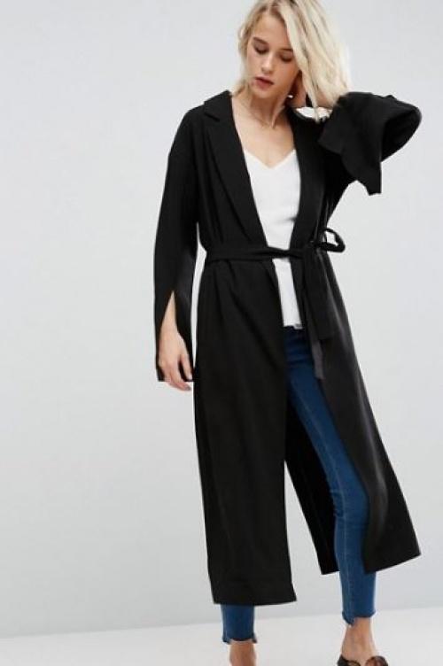 Asos - Manteau long avec ceinture