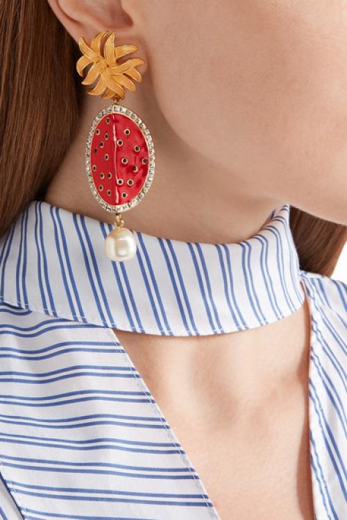 Dolce & Gabbana - Boucles d'oreilles pastèques
