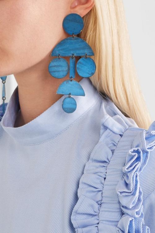 Annie Costello Brown - Boucles d'oreilles bleues
