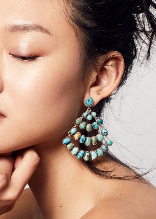Paloma Stipp x Free People - Boucles d'oreilles turquoises