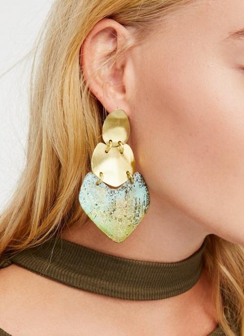 Sibilia x Free People - Boucles d'oreilles bleutées