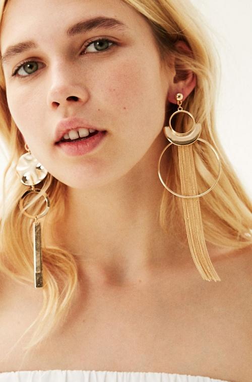 Bershka - Boucles d'oreilles asymétriques