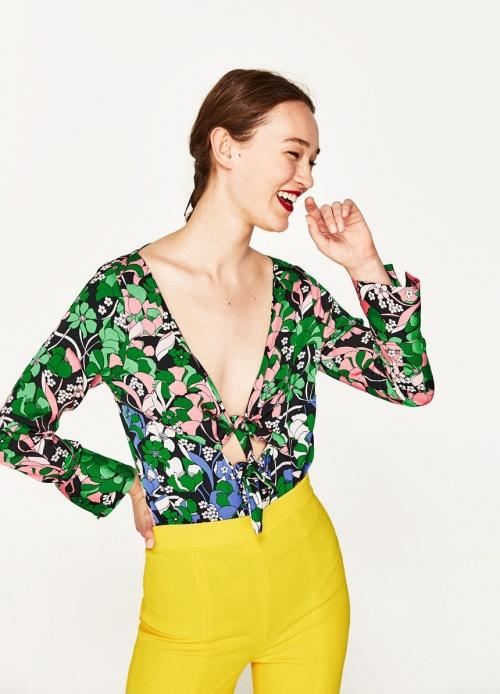 Zara - Body fleuri