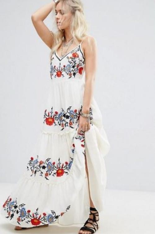 Glamorous Petite - Robe longue style caraco