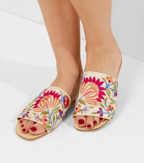 New Look - Mules brodées