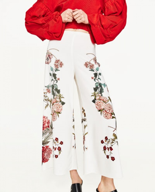Zara - Pantalon fleuri