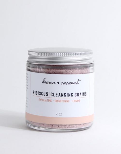 Gommage aux grains d'hibiscus
