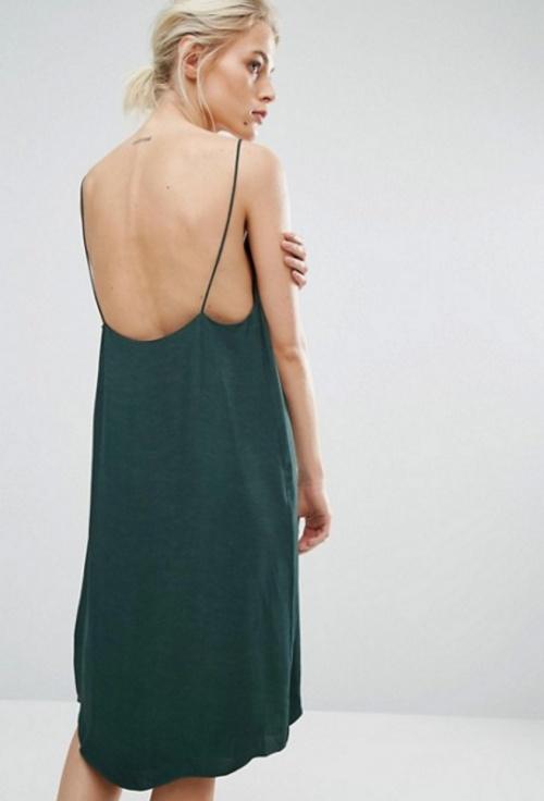 Slip dress mi-longue