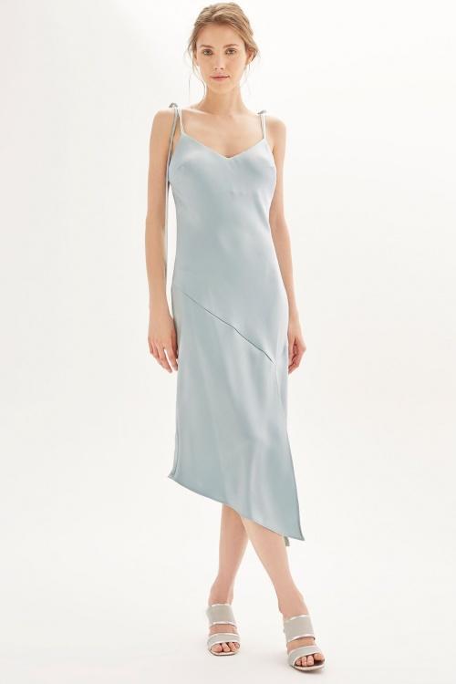 Slip dress asymétrique