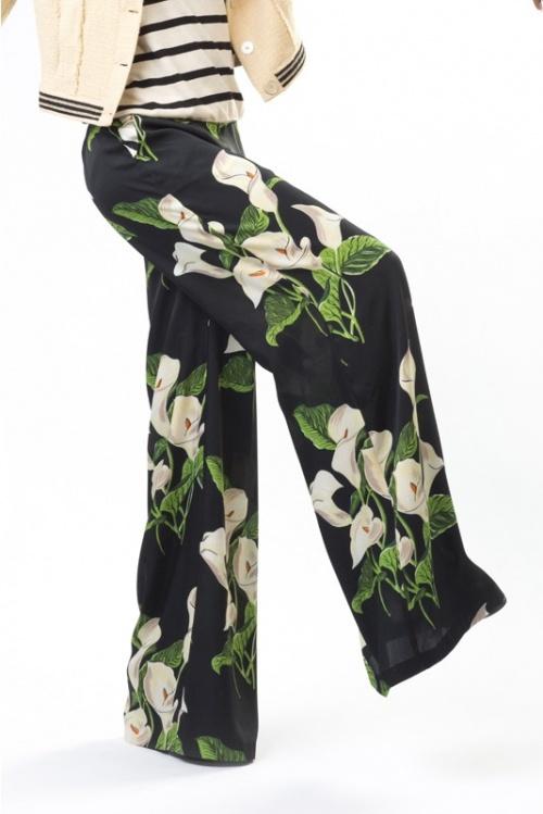Julia June - Pantalon à fleurs