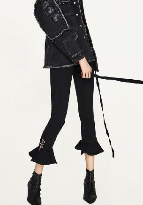 Zara - Pantalon à volants