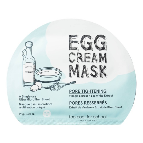 Masque tissu visage pores - Too Cool For School