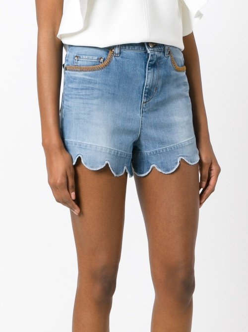 Red Valentino - Short en jean