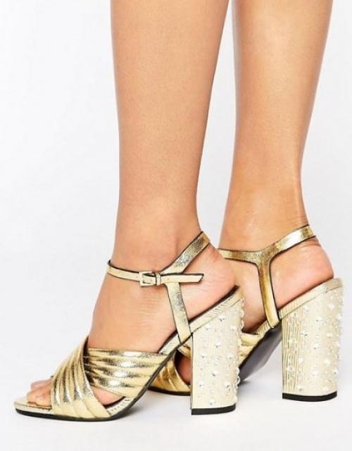 Miss Selfridge - Sandales dorées