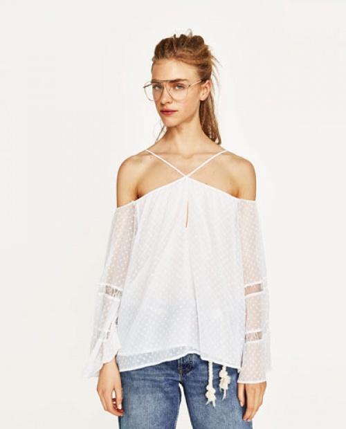 Zara - Blouse épaules dénudées