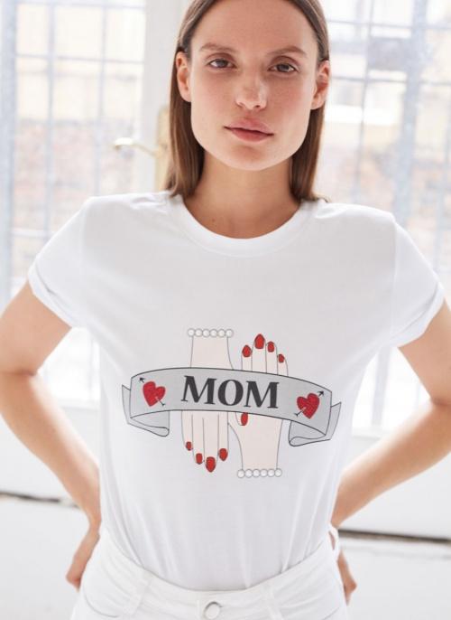 Uterqüe - T-shirt imprimé Mom