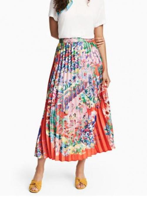 H&M - Jupe longue plissée