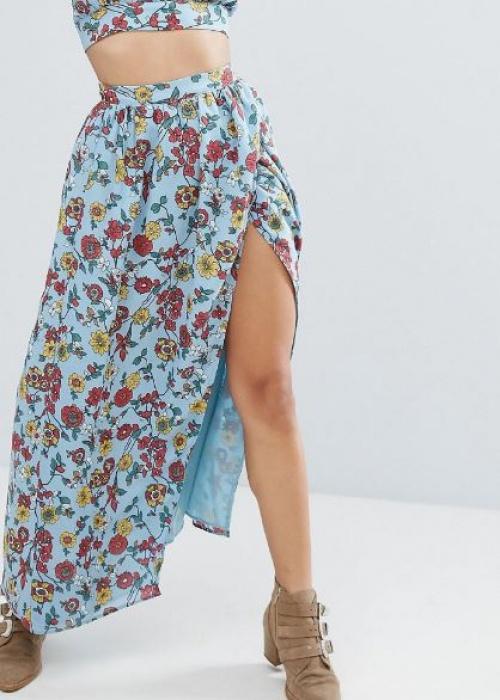 Glamorous - Jupe longue portefeuille à imprimé floral