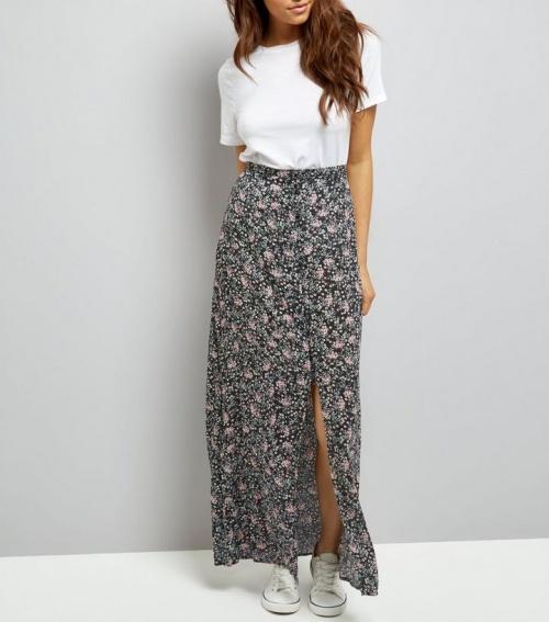 New Look - Jupe longue fleurie