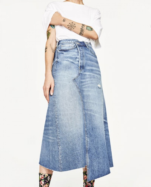 Zara - Jupe longue jean