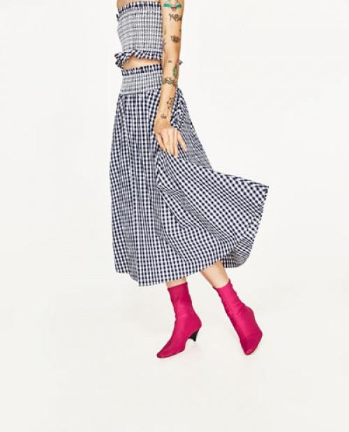 Zara - Jupe longue vichy