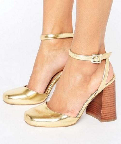 Asos - Sandales dorées