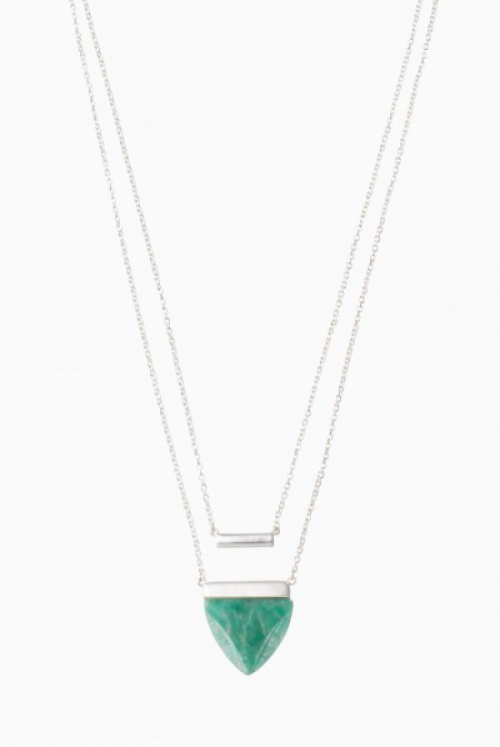 Stella & Dot - Collier pierre triangle