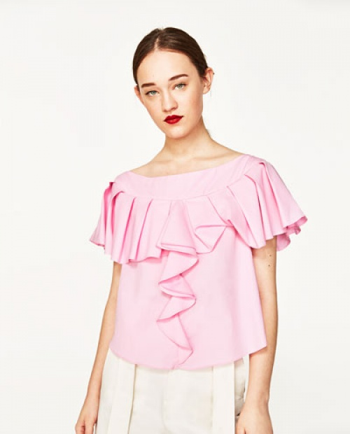 Zara - Blouse volants
