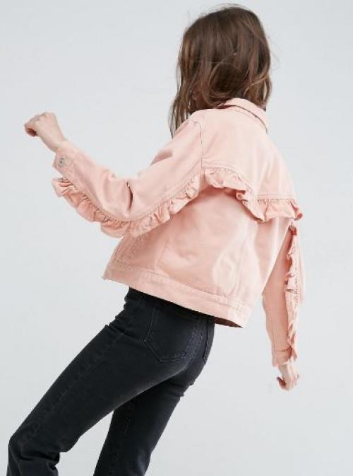 Asos - Veste en jean à volants dans le dos