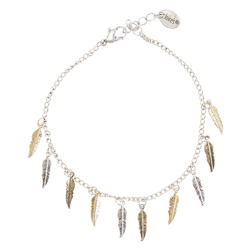 Claire's - Bracelet de cheville à feuilles