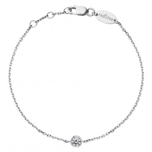 RedLine - Bracelet de cheville Or blanc 18K et diamant