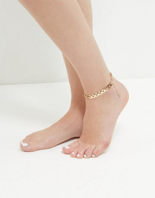 New Look - Bracelet de cheville doré en chaine