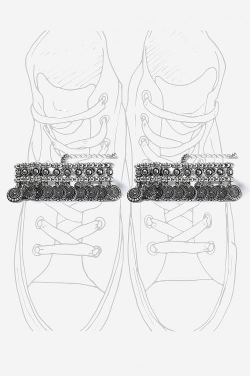 Topshop - Double bracelet de cheville style ethnique