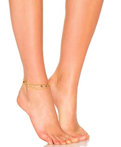 Ettika - Bracelet de cheville avec pièces