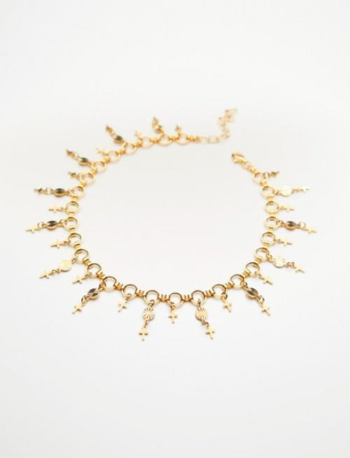 Free People - Bracelet de cheville avec charms
