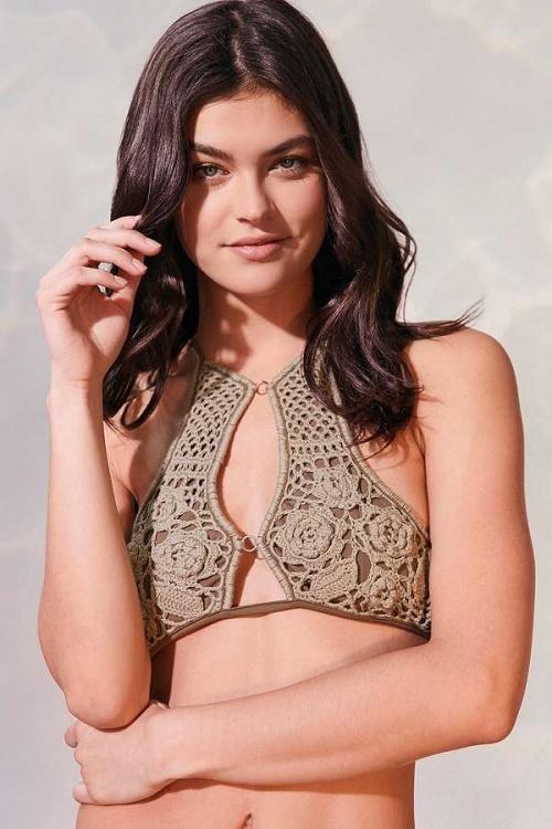 Somedays Lovin - Haut de bikini Sun Sway à encolure montante au crochet